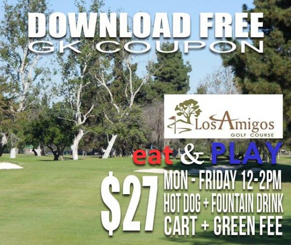 Los Amigos Golf Course Downey California Eat & Play GK Coupon