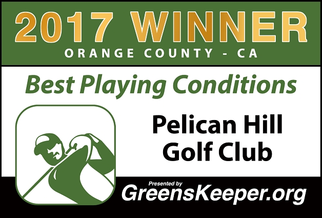 Best Playing Conditions 2017 Pelican Hill Golf Club - Orange County