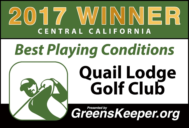 Best Playing Conditions 2017 Quail Lodge & Golf Club - Central California