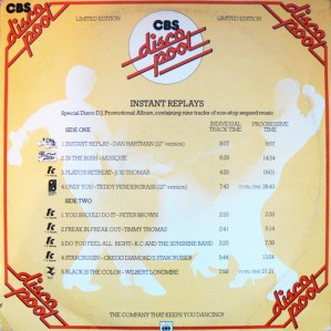 CBS Disco Pool 'Instant Replays'