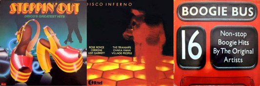 Steppin' Out, Disco Inferno and Boogie Bus mix albums