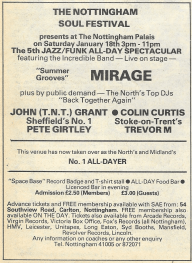 Blues & Soul 321 Nottingham Palais All-Dayer Jan '81