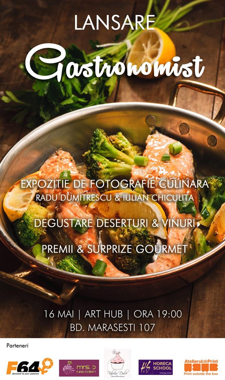 Afis lansare publicatie gastronomist.ro