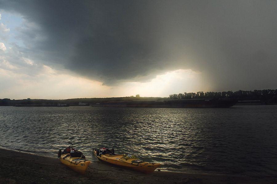 Început de furtună supercelulară la Cernavodă