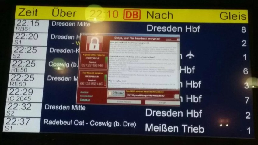 Train station hacked