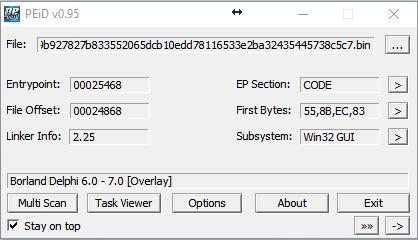 Trojan Coin Miner PEiD v0.95