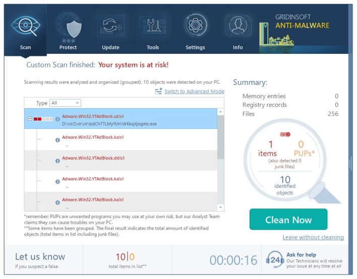Perform the scan every day for better virus protection