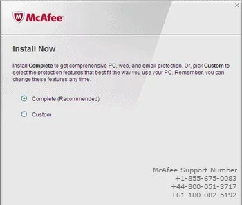 McAfee installation