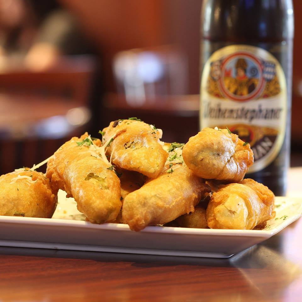 Fried pickles and a beer at The Hill Bar and Grill