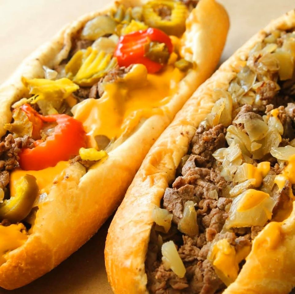 Two delicious Philly Cheese Steak sandwiches at CheeseSteak Restaurant Elk Grove