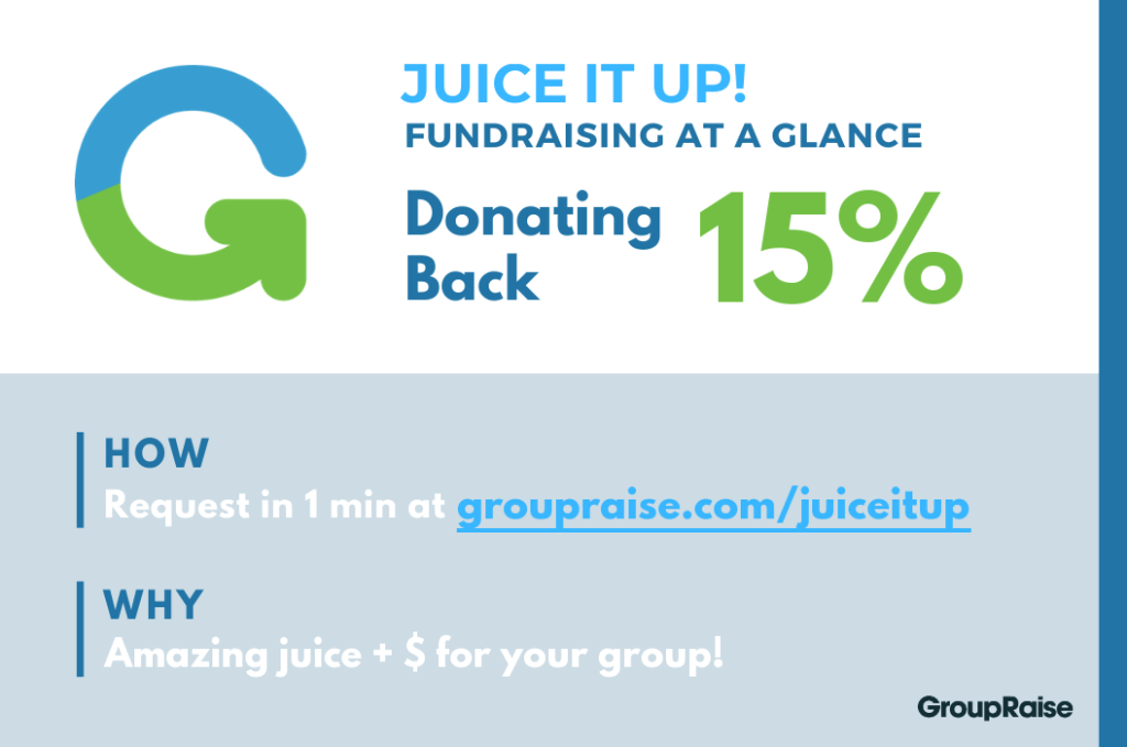 Infographic: Juice it Up! fundraising at a glance