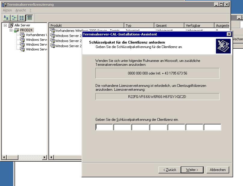 M$ Terminal Server aktivierung kann einem den Tag versauen!
