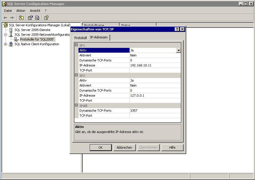 PHP am Microsoft SQL Server Express Edition anhängen