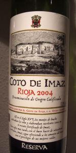 Coto de Imaz Reserva 2004 – extrem leckerer Rioja!