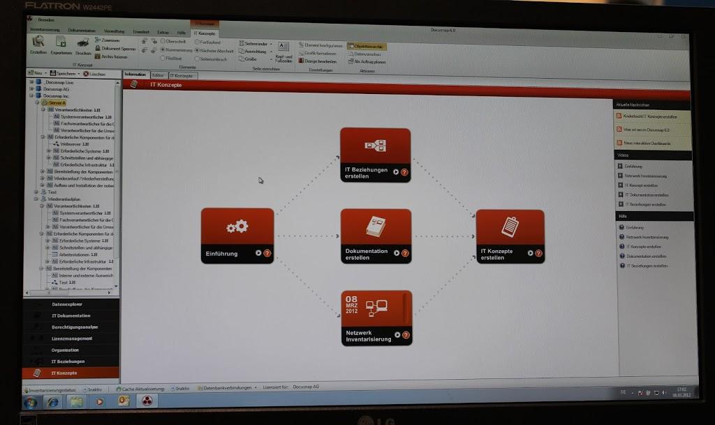 Cebit 2012 – Docusnap – IT-Konzept, Topologie, Inventarisierung auf Knopfdruck