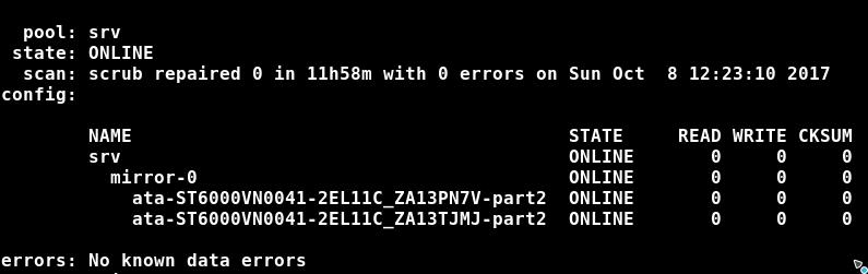 ZFS nach Neustart Probleme mit zpool und externer USB Platte