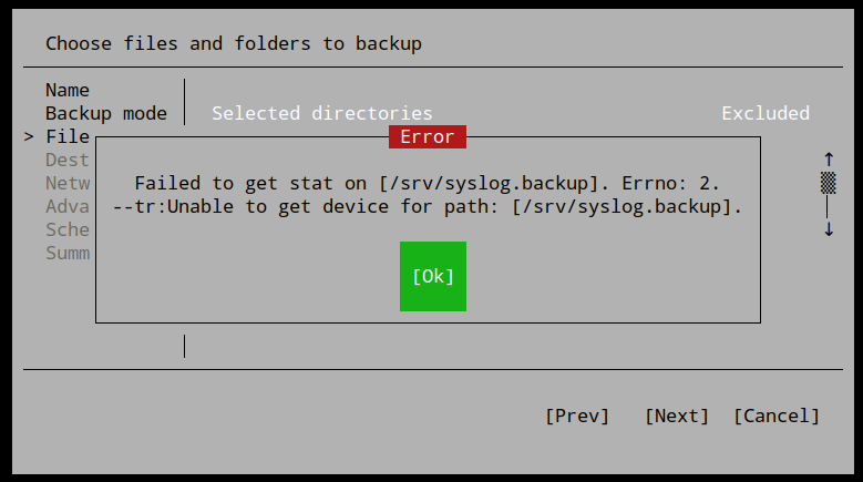 Veeam – Failed to get stat on Errno: 2. Unable to get device for path: