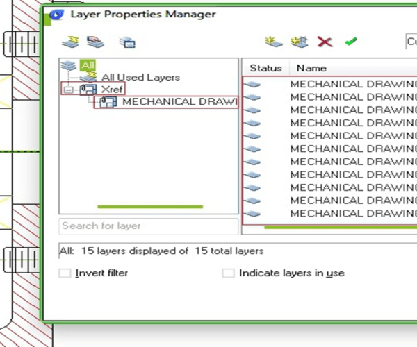 How to change referenced file layer properties in master file