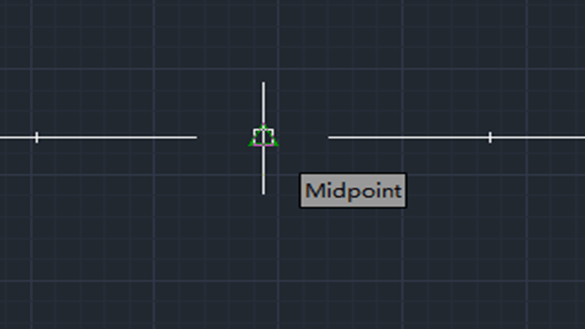 Small tips: How to find midpoint while drawing