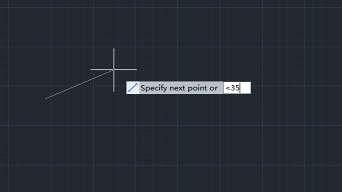 How to specify length after specifying angle?