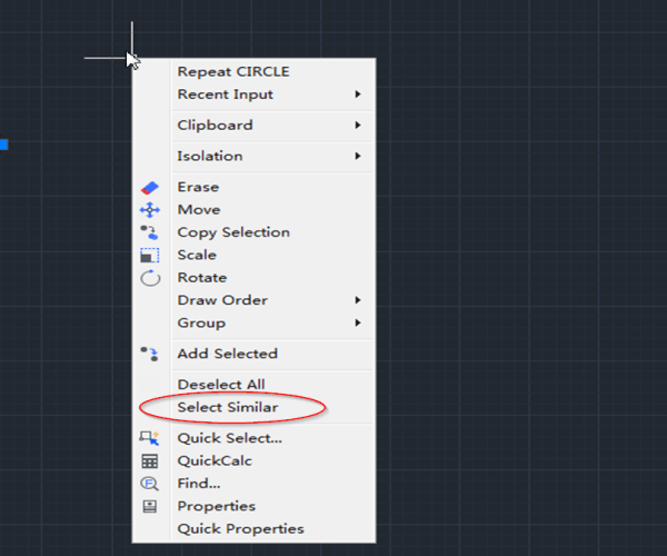 How to select similar objects?