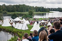 """The reenactors had a large camp for the whole weekend where """"commoners"""" were not allowed to go without an invitation."""