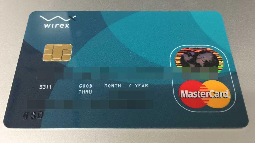 Wirexデビットカード(USD)