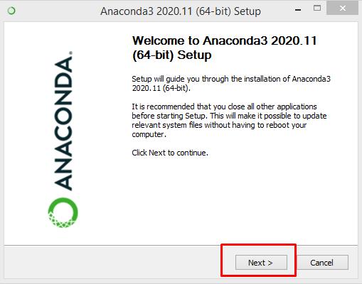 Anaconda3 2020. 11 (64-bit) Setup