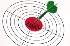 """Email"" as a bulls-eye to a target"