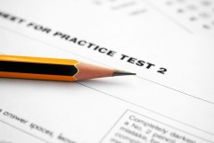Practice Test Exam and a Pencil