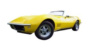 Yellow 1968 Chevrolet Corvette