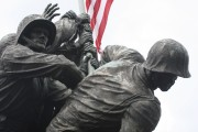 The United States Marine Corps War Memorial depicting the flag raising at Iwo Jima