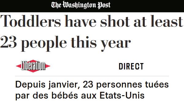 Captures d'écran du Washington Post et de Libération.
