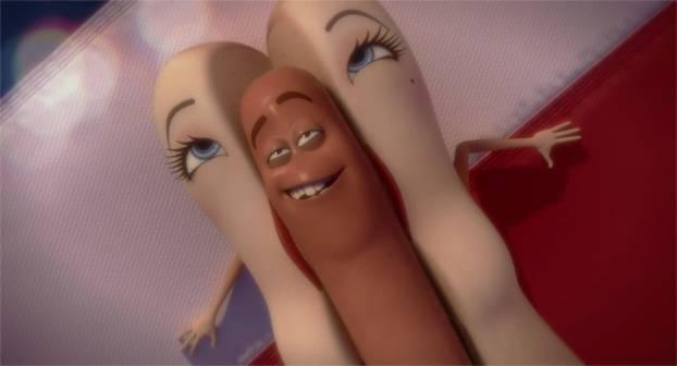 Le bonheur selon Sausage party: glisser une saucisse dans un pain après approbation divine. - capture du film