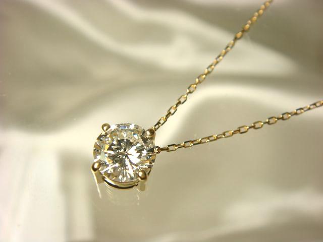 1カラット立爪ダイヤをペンダントにリフォーム【神戸 元町】