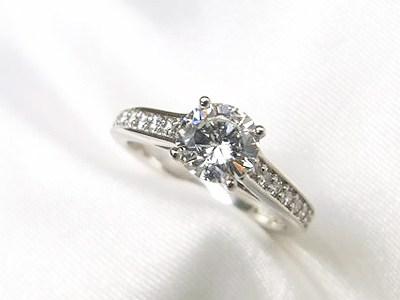 ご家族の0.5ctUPダイヤモンドをご婚約指輪へリフォーム【神戸 元町】