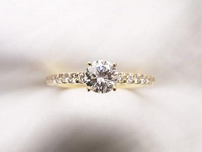 おばさまの0.37ctダイヤモンドリングをリフォーム【神戸 元町】