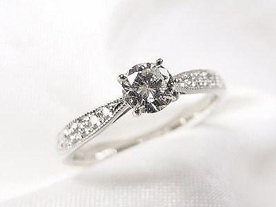 お母様の立爪ダイヤモンドをご婚約者様のエンゲージリングにリフォーム【神戸 元町】