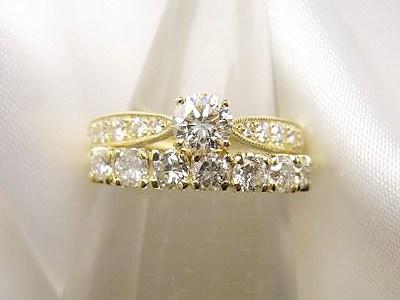 お母様のダイヤを美しいエンゲージリングにリフォーム【神戸 元町】