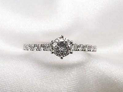 ご婚約なさったお嬢様へ0.293ctダイヤモンドリングリフォーム【神戸 元町】