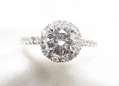 0.7ctダイヤモンドリングをメレダイヤ取巻きキラキラリングへリフォーム【神戸 元町】
