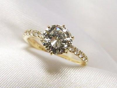 おばさまのご遺品1ctUPのダイヤモンドリングをリフォーム【神戸 元町】
