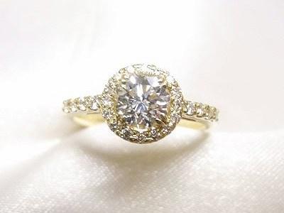 ダイヤモンドをK18イエローゴールド製キラキラジュエリーリフォーム【神戸 元町】