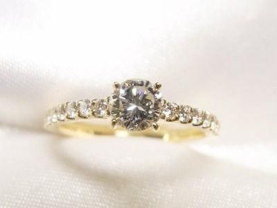 ご家族のダイヤモンドをK18製エンゲージリングにリフォーム【神戸 元町】