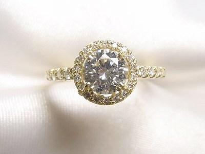 0.7ctダイヤモンドリングをk18メレダイヤ取巻きリングへリフォーム【神戸 元町】
