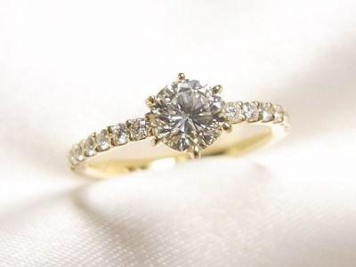 お母様の0.5ctUPダイヤモンドリングをリフォームしてお二人でシェア【神戸 元町】