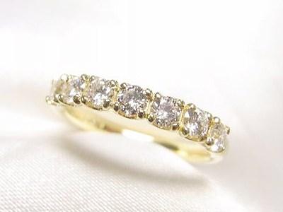 ダイヤモンド7ピースで0.5ctUP K18ハーフエタニティリングのご注文【神戸 元町】