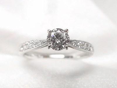 0.2ctUP立爪ダイヤをアンティーク風ご婚約指輪へリフォーム【神戸 元町】
