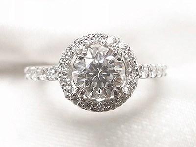 お母様の0.71ctダイヤモンドをメレダイヤ取り巻きのエンゲージリングへリフォーム【神戸 元町】
