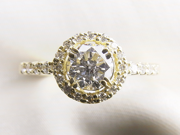 0.4ctUP立爪ダイヤをK18メレダイヤ取巻きリングへリフォーム【神戸 元町】